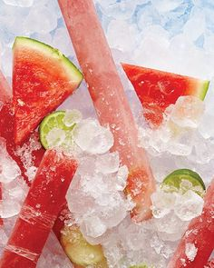 Watermelon & Lime Rum-Pops - Boozy popsicles from Sweet Paul!