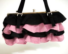 Another ruffle score..suede little winter bag from a fabulous yard sale.