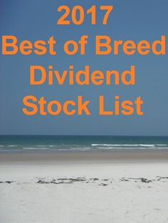 2017 Best of Breed Dividend Stock List