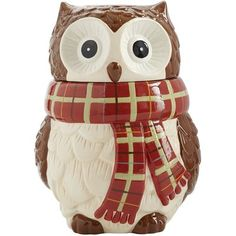 Chilly Billy Owl Cookie Jar by Pier One Ceramic Cookie Jar, Ceramic Owl, Cookie Jars For Sale, Modeling Clay Recipe, Christmas Cookie Jars, Owl Ornament, Cottage Furniture, Vintage Owl, Clay Food