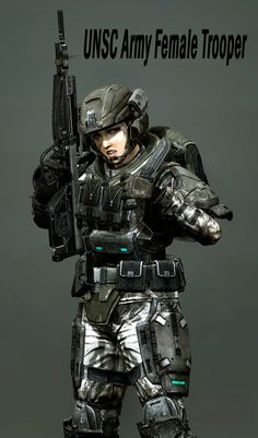UNSC Female Trooper by LordHayabusa357.deviantart.com on @deviantART