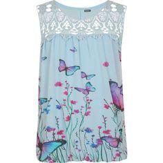 Rikki Crochet Lace Butterfly Vest ($23) ❤ liked on Polyvore