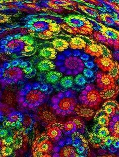 Colorful Flower Swirl