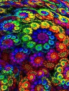 Colorful Flower Swirl