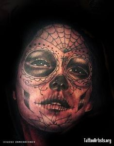 DIA DE LOS MUERTOS A last minute tattoo on a client from Fullerton, ca. right under the knee cap. what a trooper this guy was. about two ho...
