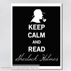 Keep Calm Sherlock Holmes Vintage Style by JaneAndCompanyDesign