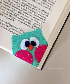 Items similar to Owl bookmark. Gifts for young readers.Back to school bookmark. Handmade on Etsy Corner Bookmarks, How To Make Bookmarks, Sewing Projects For Kids, Sewing Crafts, Art Projects, Diy Christmas Gifts, Handmade Christmas, Diy For Kids, Gifts For Kids
