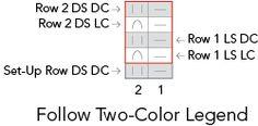 2 color HalfBr_1 half brioche 2 colors