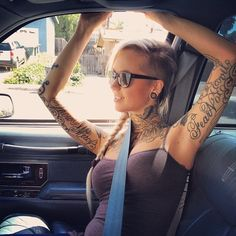 Tattooed girl. #tattoo #tattoos #ink #inked