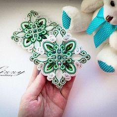: Soutache Bracelet, Soutache Pendant, Soutache Jewelry, Beaded Jewelry, Soutache Pattern, Polymer Clay Flowers, Textile Jewelry, Shibori, Beaded Embroidery