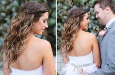 Perfect Beach wedding hair inspiration braided crown// One Wed