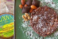 Raw, Vegan Chocolate Coconut Cookies