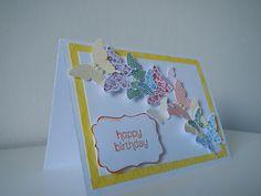Geburtstagskarte - ein Meer aus Schmetterlingen / Happy birthday card with a lot of butterflies