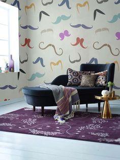 Moustache wall details