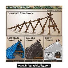 Survival Tips D Infographic #HowTo #Cover #Shelter #Preparedness #PlanPrepPak
