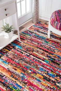 Rugs USA - Area Rugs in many styles including Contemporary, Braided, Outdoor and Flokati Shag rugs.Buy Rugs At America's Home Decorating SuperstoreArea Rugs Tapetes Diy, Diy Tapis, Braided Rag Rugs, Rugs Usa, Rug Hooking, Handmade Rugs, Blue Area Rugs, Fabric Crafts, Pink Blue