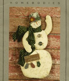 Rustic Country Snowman Pattern from Homebodies  Lost Mittens