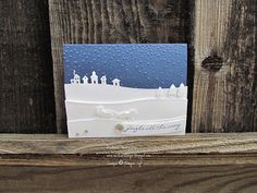 by Michelle: Jingle All the Way, Sleigh Ride Edgelits, Softly Falling embossing folder, Iced Rhinestone Embellishments - all from Stampin' Up!