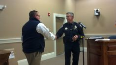 Det. Scott Park thanked by Chief Doyle for his 25 years of service