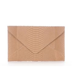 Adriana Castro Grace Clutch In Taupe Python
