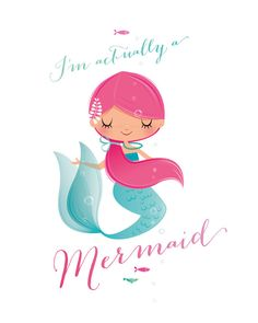 This is a simple mermaid nursery print, suitable for any little girls room Nursery Prints, Nursery Art, Girl Nursery, Nursery Decor, Mermaid Poster, Image Deco, Mermaid Nursery, Mermaids And Mermen, Disney Drawings