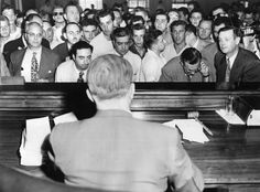 July Grim-faced defendants stand in front of Police Magistrate E. Marvin Capouch answering to charges resulting from rioting at a building where an African-American family had rented an apartment. Cicero Chicago, Cicero Illinois, Chicago Neighborhoods, Chicago Tribune, The Neighbourhood, Photo Galleries, African, History, Gallery