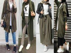 Olive hijab outfits-Winter Hijab fashion combinations – Just Trendy Girls #hijabfashion,