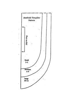 pillowcase dress - armhole template