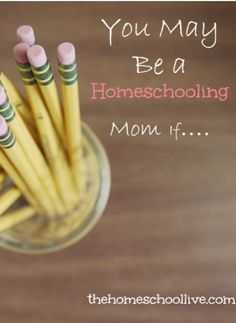 You May Be a Homeschooling Mom If. Do you want to homeschool your kiddos? Be Good To Me, School Hacks, Home Schooling, Homeschool Curriculum, Teaching, Education, Mom, School Stuff, Organizing