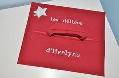 sac à tarte étoile argenté broderie personnalisée au nom pour cadeaux noel,anniversaire,femme : Autres sacs par lbm-creation