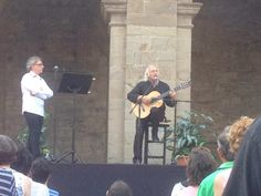 Recital romántico #CongresoGilYCarrasco .#El Bierzo - M-14 Monasterio de San Andrés #VegaDeEspinareda con Amancio Prada y Juan Carlos Mestre