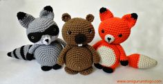 Amigurumi Woodland Animal number three! I started with Amigurumi Beaver and shortly after Adorable Mister Fox followed and now we ha...