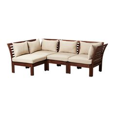 (Outdoor) ÄPPLARÖ -- Sofa combination, brown, beige -- IKEA -- $587.88 --> oh my gosh, even better, this would weather so well!