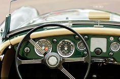 1959 Mg A 1600 Roadster Steering Wheel Print By Jill Reger
