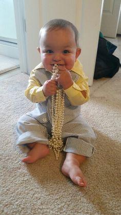 Baby seersucker. #baby, #boy, #babyseersucker, #babywedding, #pearls, #seersucker,  #formal, #cute, #toddler, #vest, #baby