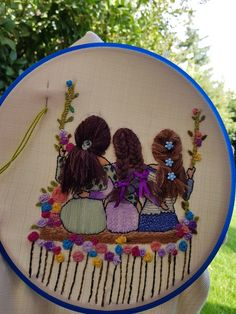Four seasons Hoop art Embroidery hoop art fiber art Embroidery hoop Fiber art Tapestry hoop art Textiles hoop art Home decor tree hoop art Hand Embroidery Videos, Embroidery Flowers Pattern, Hand Embroidery Stitches, Embroidery Hoop Art, Hand Embroidery Designs, Ribbon Embroidery, Embroidery Fashion, Embroidery Needles, Modern Embroidery