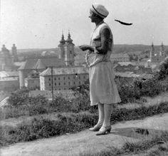 1929. Eger, háttérben a Főszékesegyház, a Minorita templom, a Szeminárium Foglár utcai tömbje és a Ciszterci templom.
