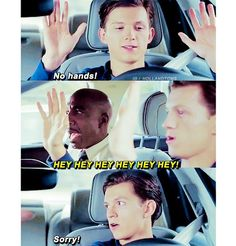 Peter taking his drivers test xD