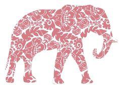 Ole Miss Princess - practically-perfect-pink: Purple Elephant, Elephant Love, Elephant Art, African Elephant, Illustrations, Illustration Art, Elephant Tattoos, Tumblr, Perfect Pink