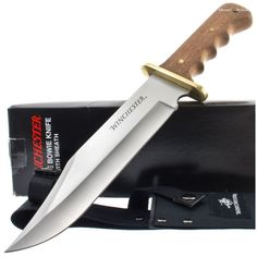 Winchester 22-01206 Large Finger Groove Bowie Knife   MooseCreekGear.com   Outdoor Gear — Worldwide Delivery!   Pocket Knives - Fixed Blade Knives - Folding Knives - Survival Gear - Tactical Gear