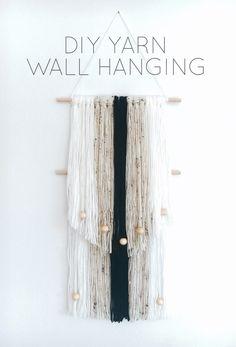 DIY Yarn Wall Hanging More
