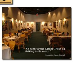 The Global Grill Pensacola,Fl - yummy goodness.  I want to go back there again, especially since it's my cousin's place!