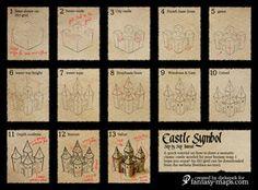 Fantasy Map Tutorial - Castle Symbol by Djekspek