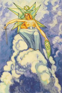 Queen of Swords... Aliester Crowley... have this tattooed on me... my card...
