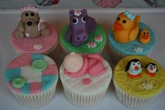 Adorable christening cupcakes from The Cupcake Oven