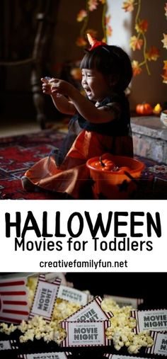 Best Halloween Movies for Toddlers - Creative Family Fun Best Family Halloween Movies, Top Family Movies, Classic Halloween Movies, Halloween Movies To Watch, Halloween Movie Night, Movie Night Party, Halloween Fun, Movie Nights, Movie Night For Kids