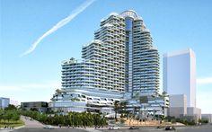 5 STARS HOTEL CONCEPT DESIGN on Behance Hotel Design Architecture, Concept Architecture, Urban Design Concept, Hotel Concept, Facade Design, 5 Star Hotels, Skyscraper, Behance, Stars