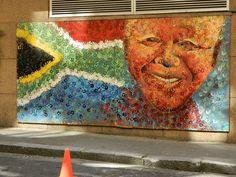 Shongololo Express, Nelson Mandela's wall in Cape Town, Learning Organization, Volunteer Abroad, Group Travel, Africa Travel, Travel Abroad, Cape Town, South Africa, Street Art, Bucket