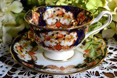 Royal Albert Fine Bone China Tea Cup and Saucer, Heirloom Imari, Gold Gilt, England.