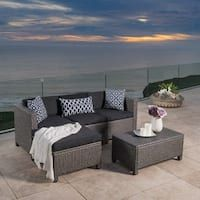 Moses Outdoor Sofa Set Christopher Knight Home Outdoor Puerta Wicker Sectional Sofa Set with Cushions (Grey/Black), Patio Furniture Outdoor Sofa Sets, Outdoor Living, Outdoor Decor, Outdoor Spaces, Patio Sets, Outdoor Pool, Pottery Barn, Art Texture, Decoration Shabby